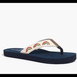 🌈J Crew Rainbow Flip Flops 🌈